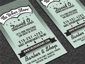 35 masculine business card designs barber business card design business card design by dirtyemm for the urban shave design 2934828 colourmoves