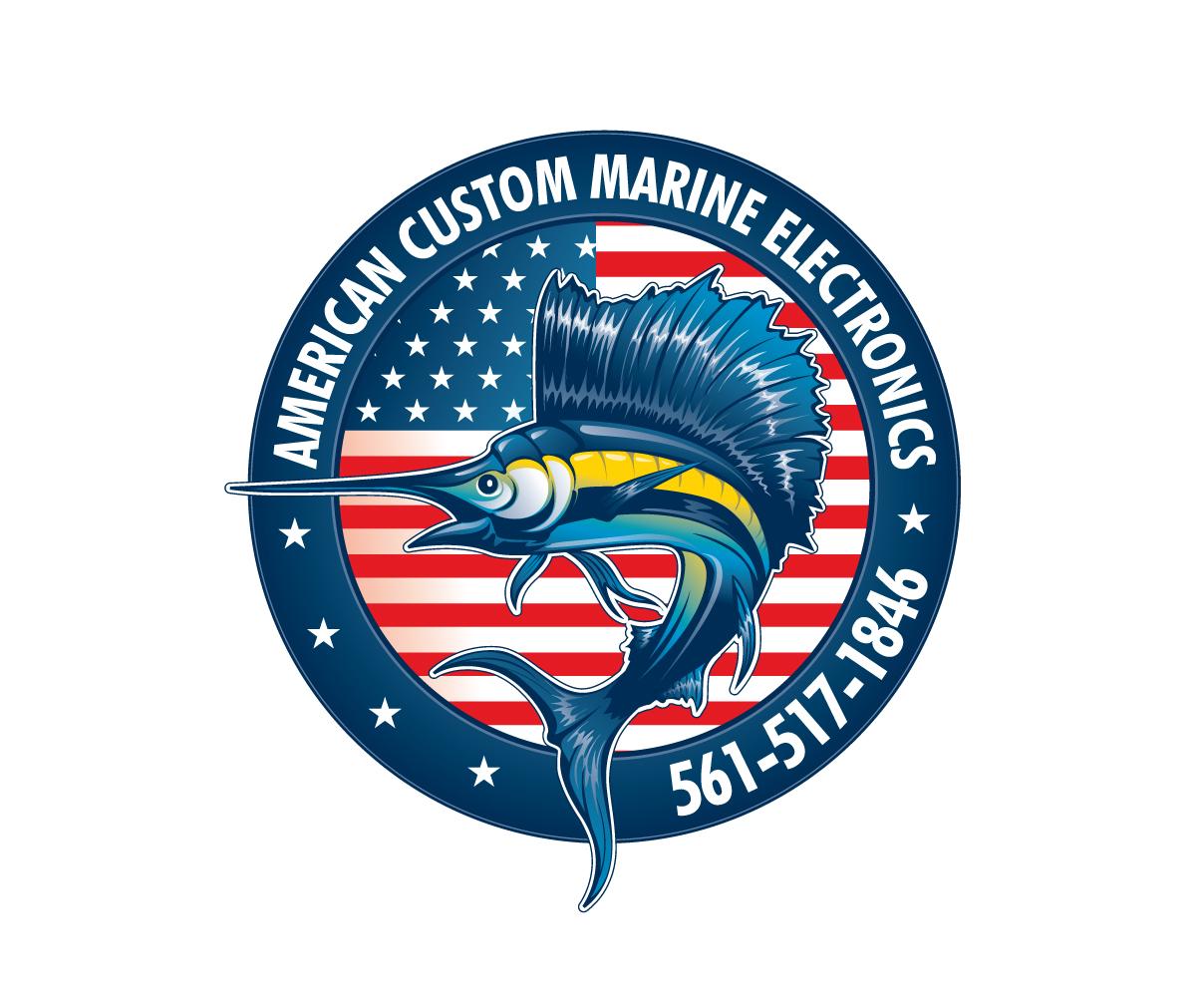 US Custom Marine Electronics Logo by Graphicsexpert