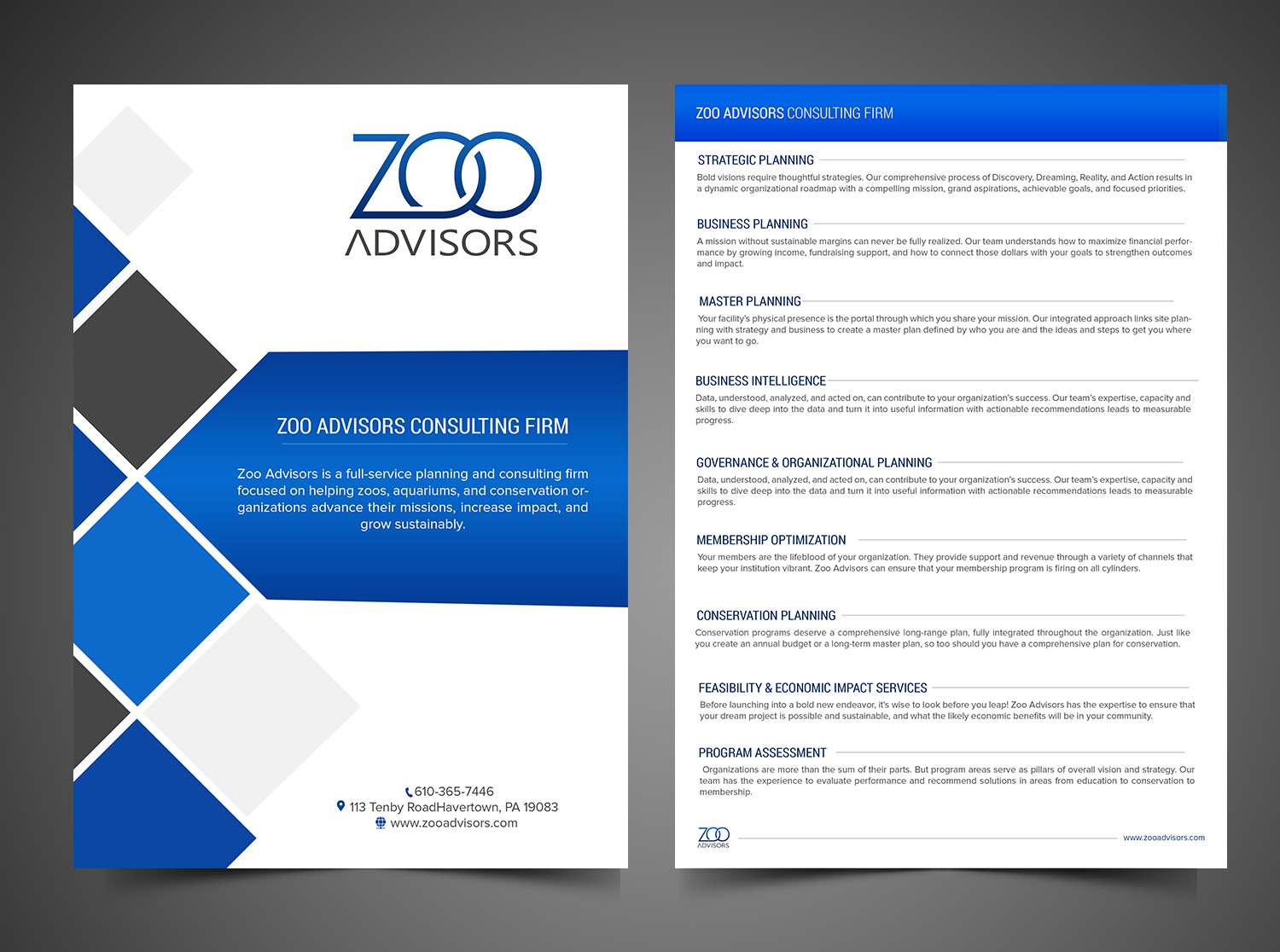 Professional, Upmarket Stationery Design for Zoo Advisors by SD ...