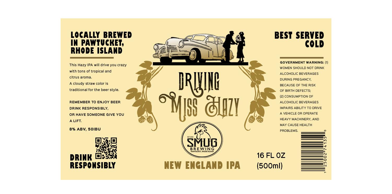 Bold, Upmarket, Craft Brewery Label Design for Smug Brewing