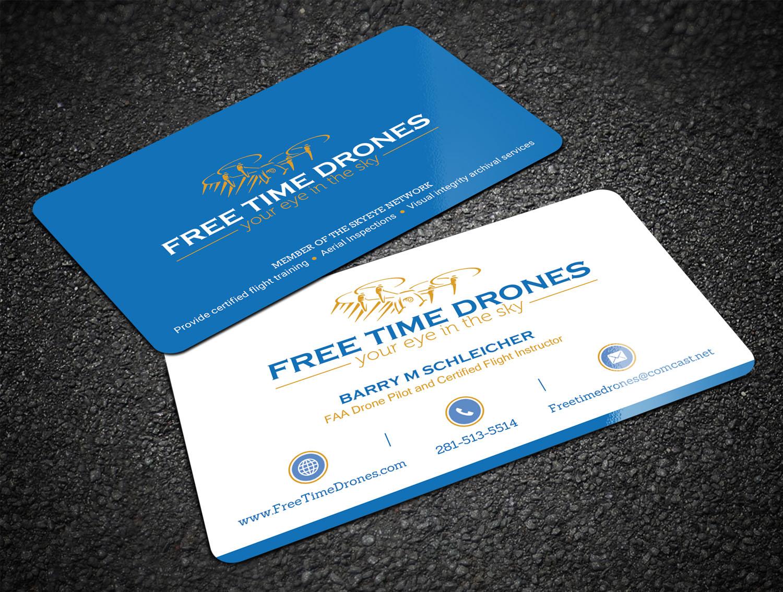 Business Card Design For Free Time Drones By Sandaruwan Design