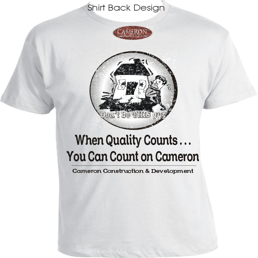 Bold traditional marketing t shirt design for a company for T shirt advertising business