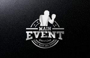 Main Event Bar and Grill   Craft beer and Burgers | Logo Design by GLDesigns