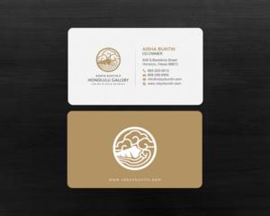 Elegant serious business card design job business card brief for business card design job high end art gallery business card winning design by chandrayaan reheart Images