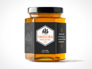 playful personable food production label design for a company by