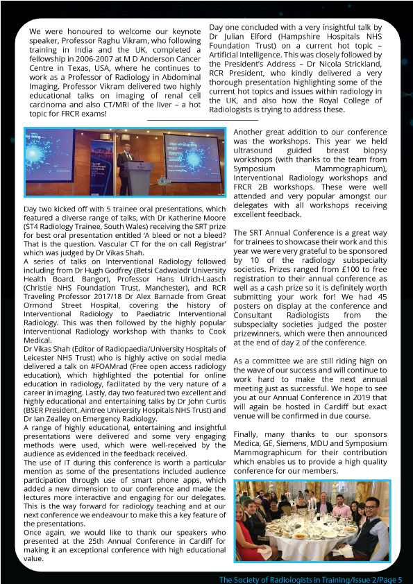 Newsletter Design for The Society of Radiologists in