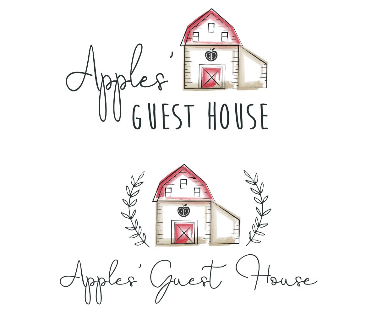 Elegant Playful Tourism Logo Design For Apples Guest House By