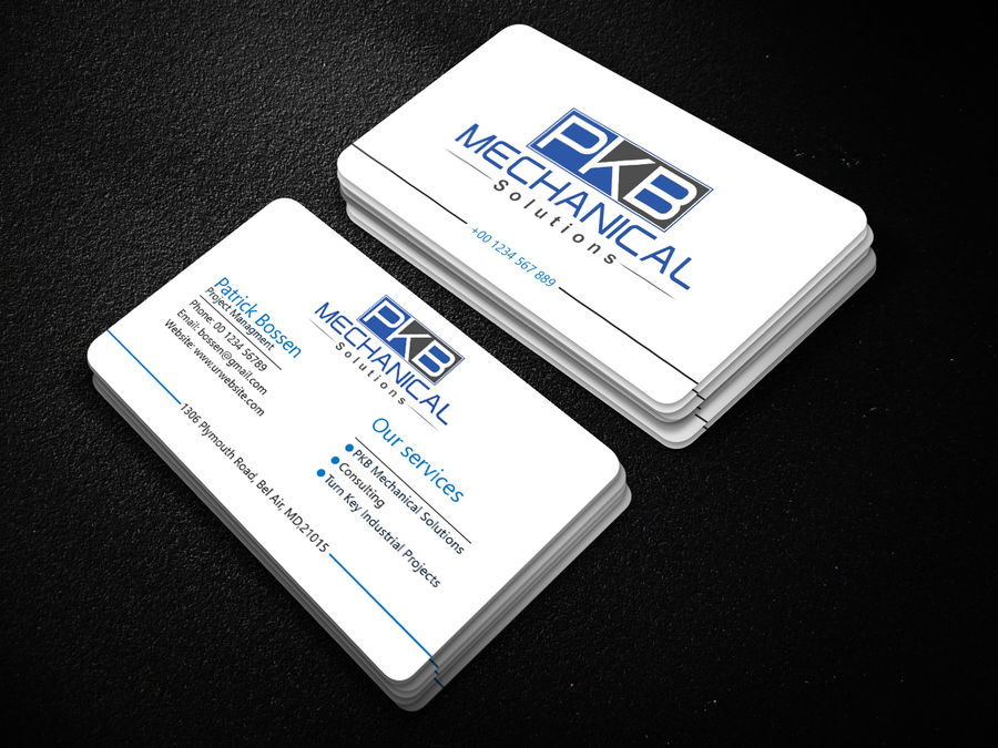 Serious Professional Business Card Design For A Company By Best