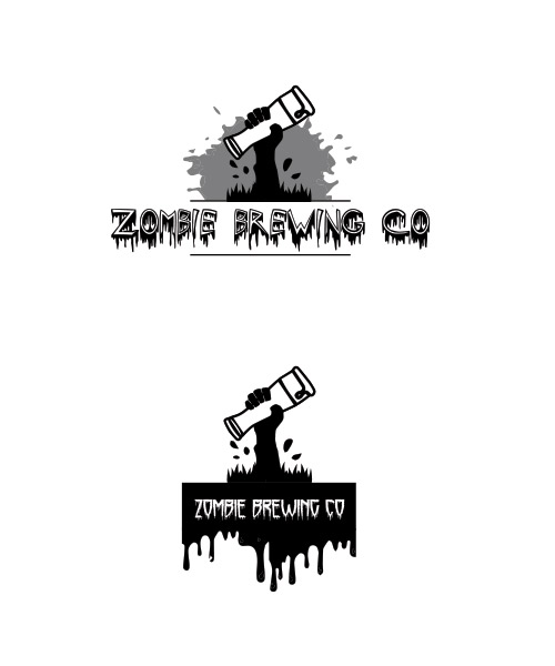 Bold Modern Craft Brewery Logo Design For Zombie Brewing Co By Cc