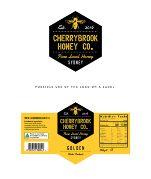 GroB RAW Honey / Cherrybrook Honey Co. | Logo Design By Wonderland