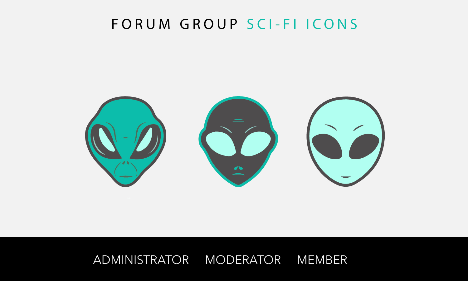 Sci Fi Forum Ranks Icons | 8 Icon Designs for a business in