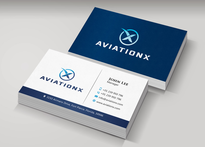 Design De Carte Visite Haut Gamme Audacieux Aviation Pour A Company En Aux United States