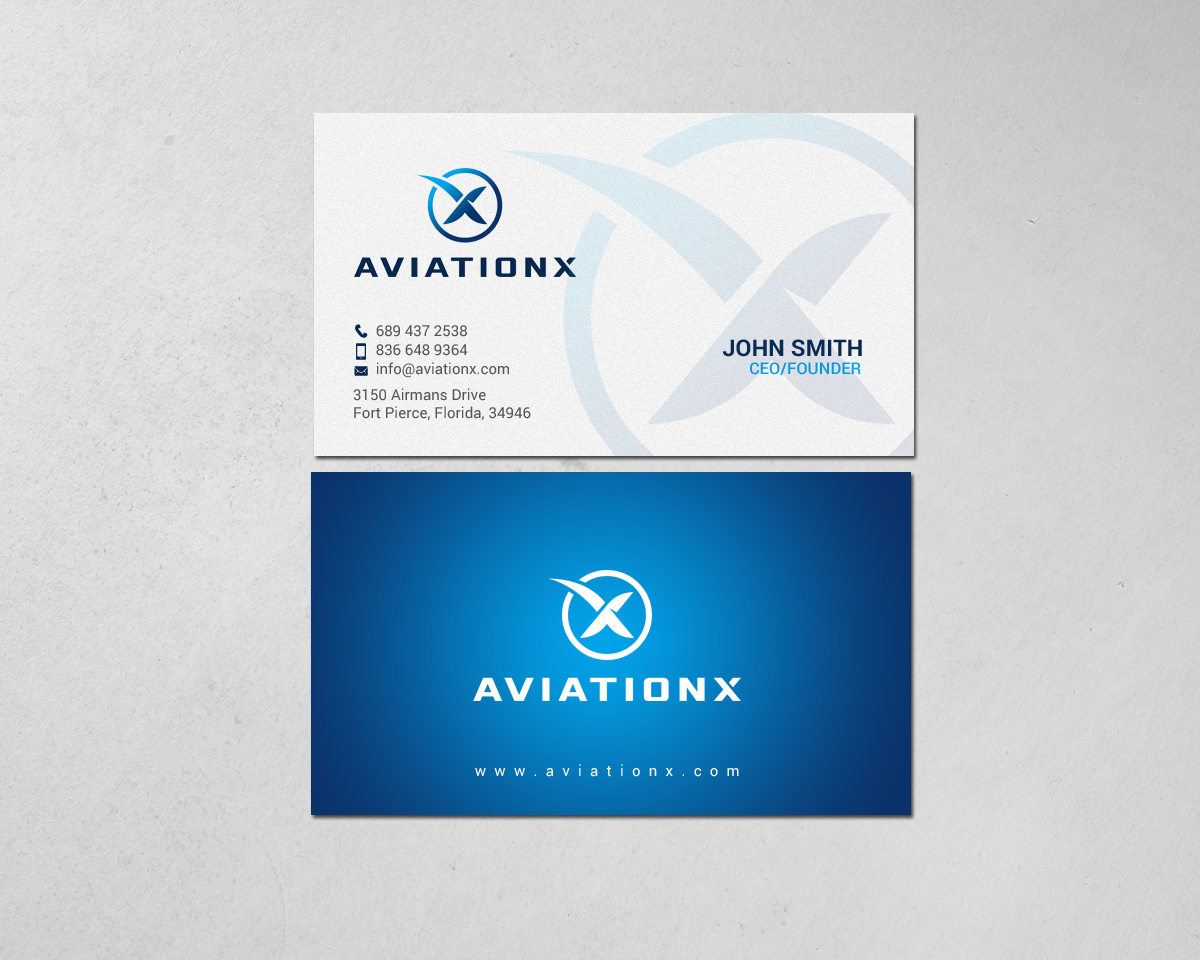 Upmarket bold aviation business card design for a company by business card design by chandrayaaneative for this project design 19601408 colourmoves