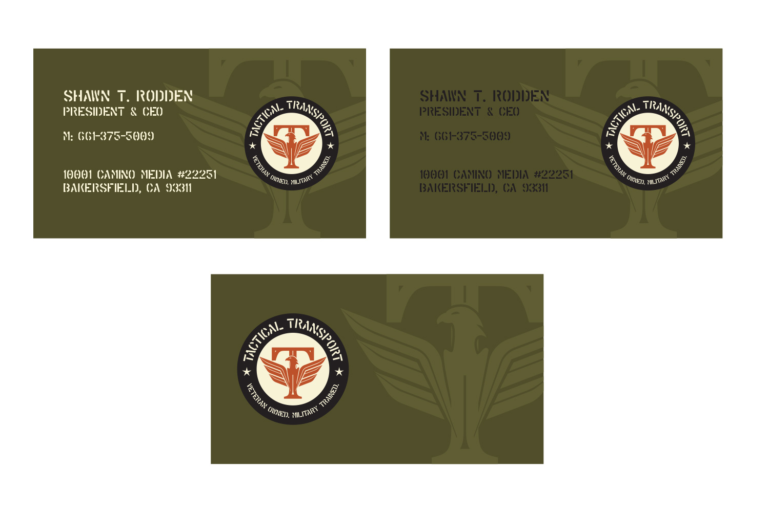 Business card design for tactical transport by b74design design business card design by b74design for tactical transport design 19624312 reheart Images