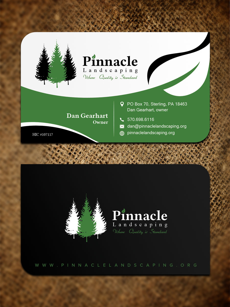 Bold Professional Landscaping Business Card Design For Pinnacle Landscaping By Sandaruwan Design 19614635
