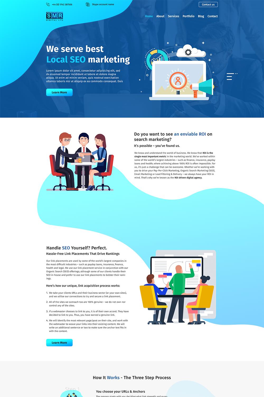 Professional, Upmarket, Digital Marketing Web Design for SMR