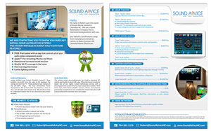 Brochure Design by ESolz Technologies - sound advice