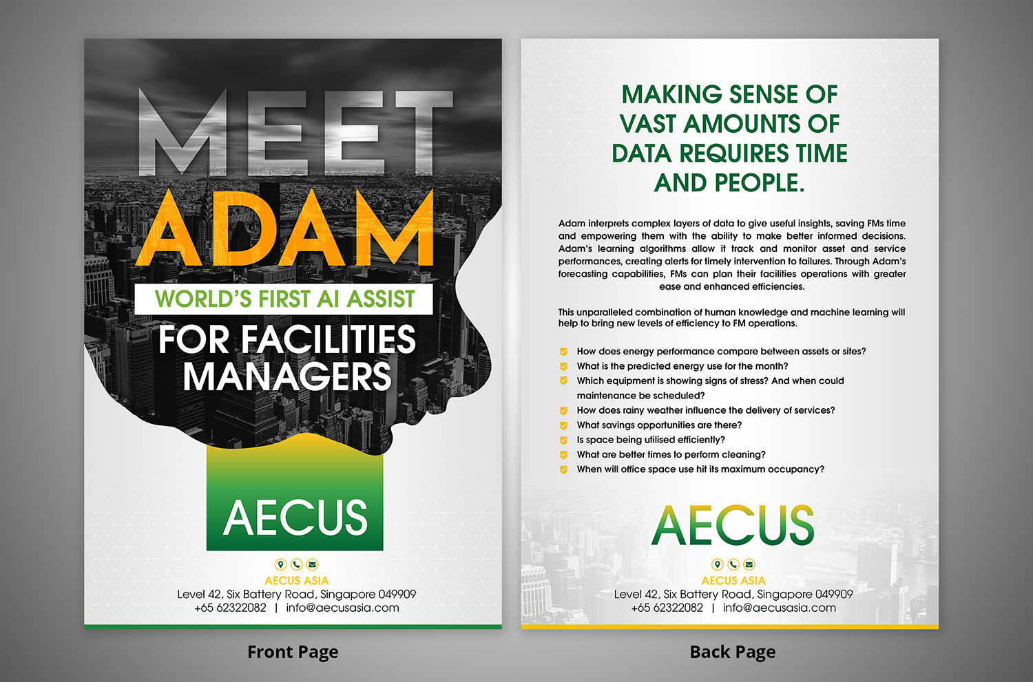 Modern, Bold Flyer Design for Aecus Asia Consulting Pte Ltd by SD