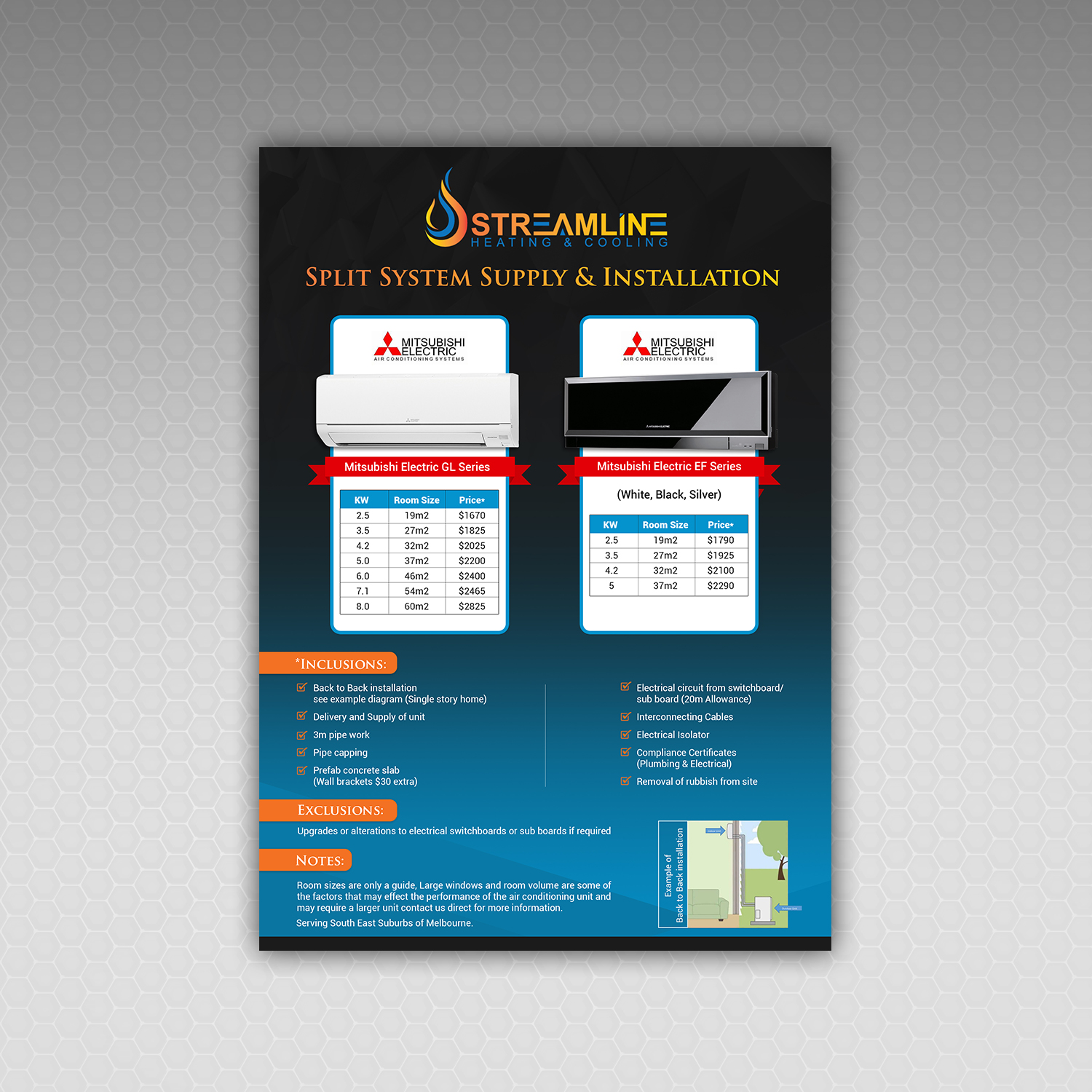 Serious Elegant Air Conditioning Flyer Design For Streamline Electric Circuit By Hih7 Heating Cooling 19664758