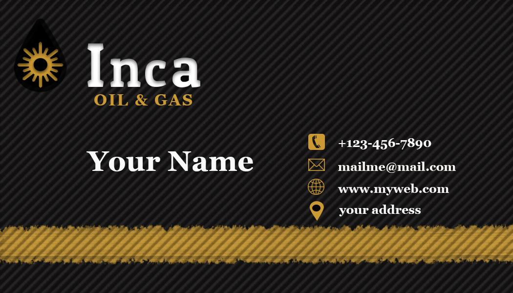 Design De Carte Visite Par Haansolo Pour Inca Oil And Gas