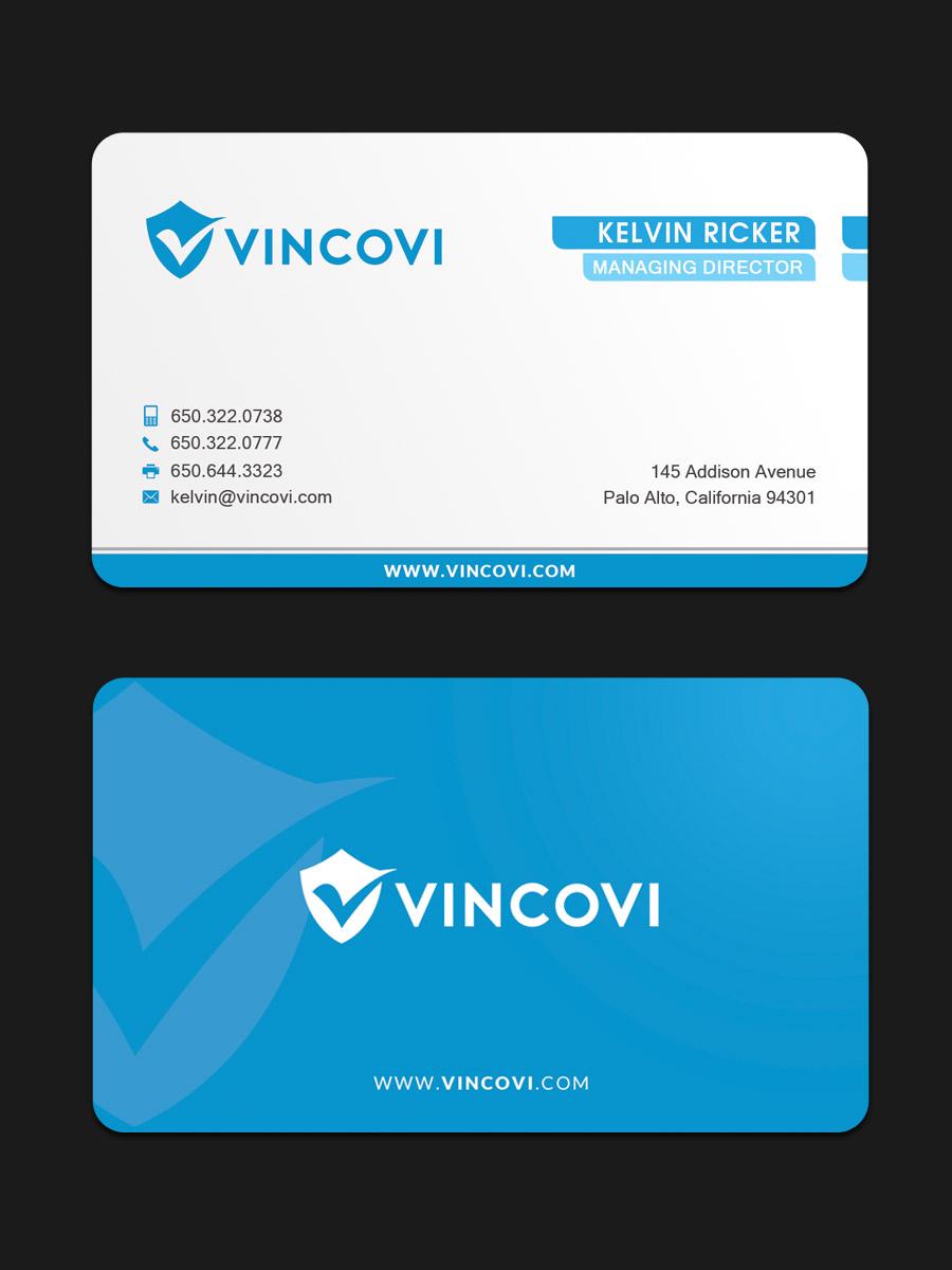 Design De Carte Visite Par Sandaruwan Pour VINCOVI Technology Solutions Inc