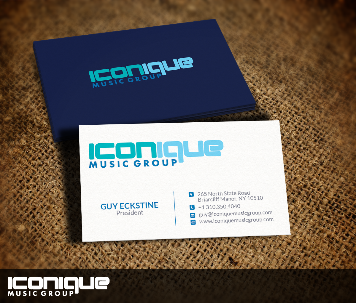 Business Card Design for Iconique Music Group by Nelsur | Design ...
