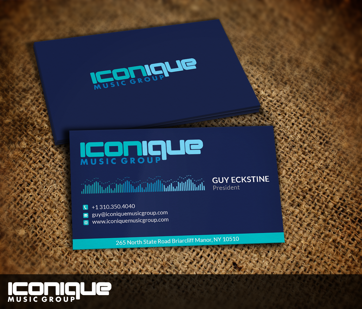 Management Business Card Design for Iconique Music Group by Nelsur ...
