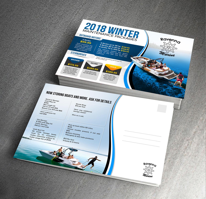 Postcard Design for Ravenna Marine by creative bugs   Design #19695057