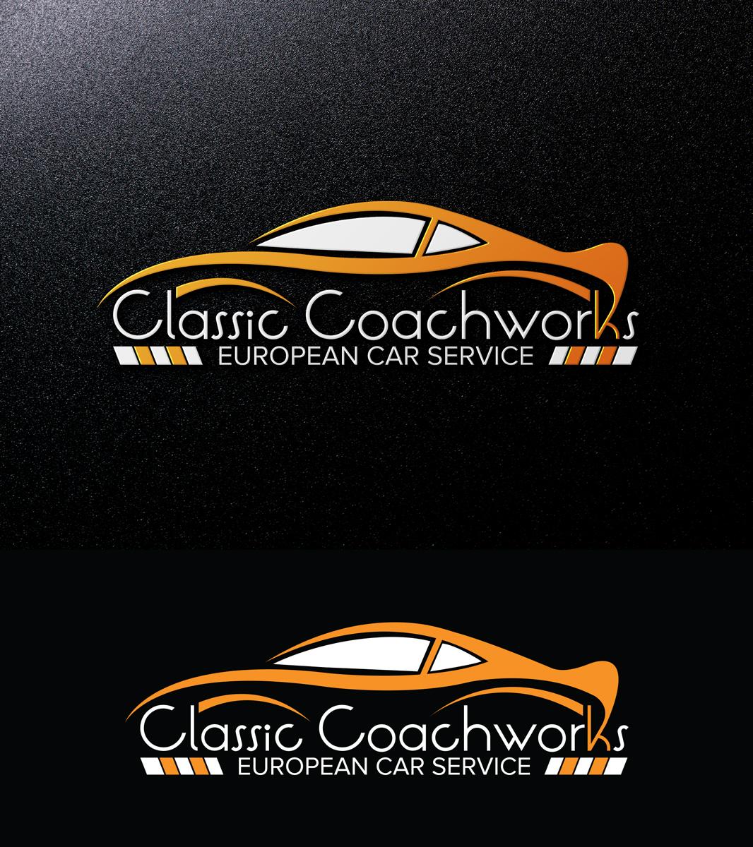 Elegant Serious Auto Repair Logo Design For Classic Coachworks
