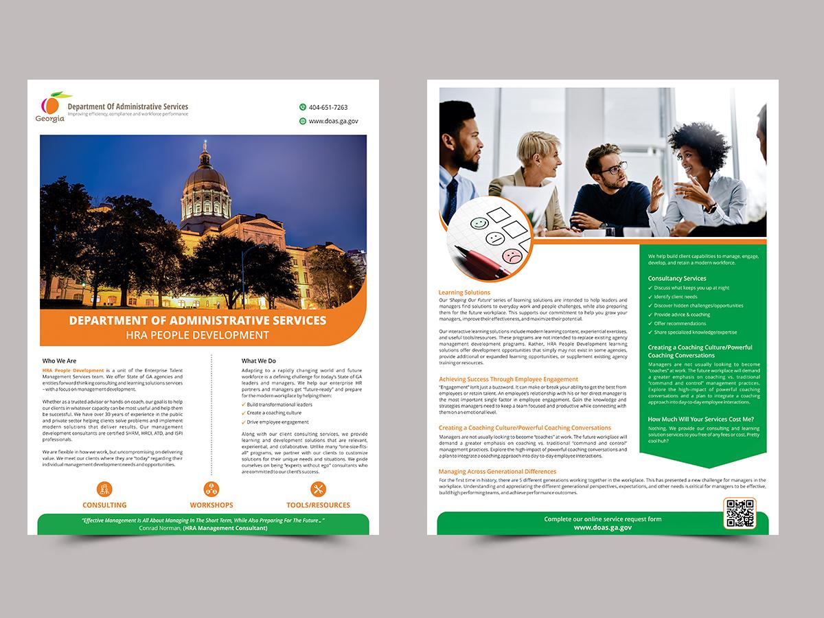 Modern, Professional Flyer Design for Global Peak Solutions