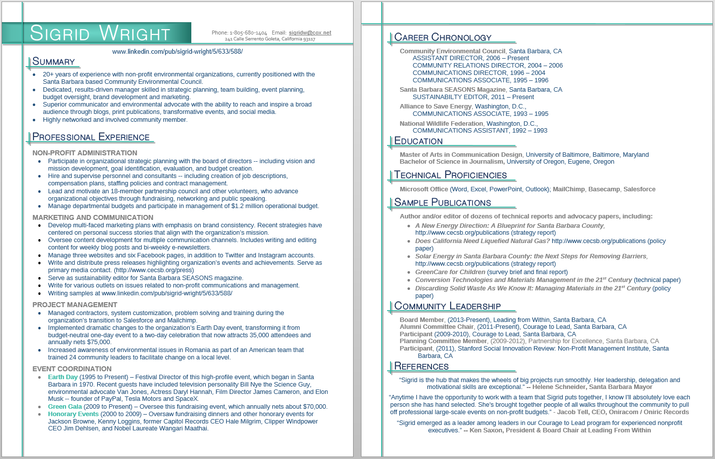 Economical, Serious, Communications Resume Design for a Company by ...