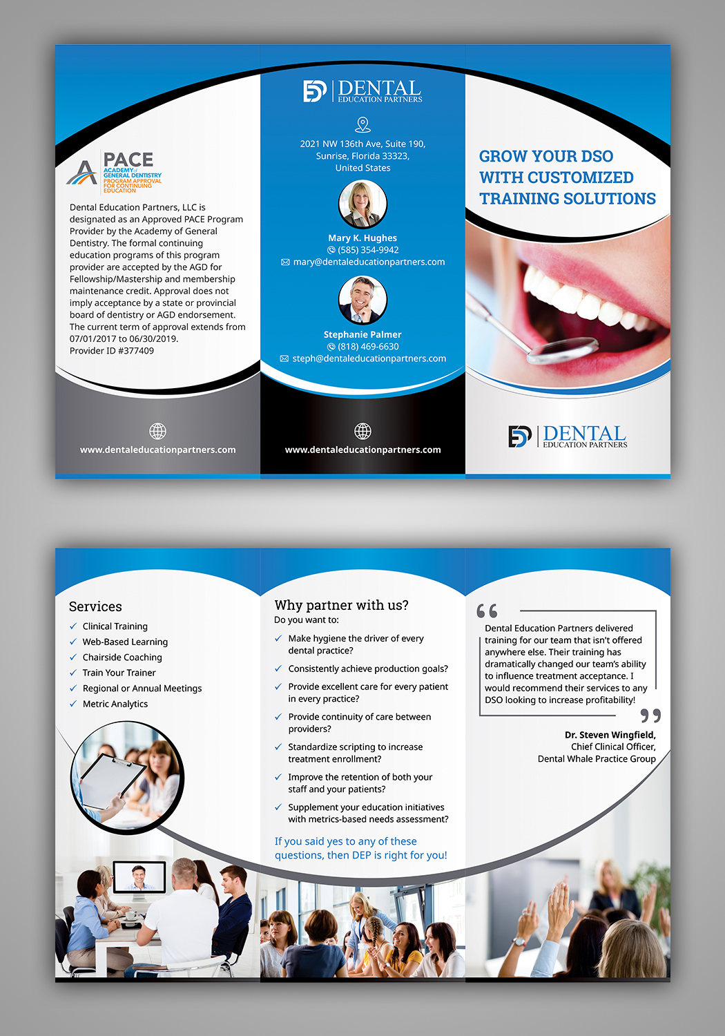 Professional, Serious Brochure Design for Dental Education