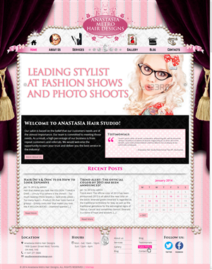Wordpress Design by NABS DESIGN - Wordpress 6 pages GLAM design for hair salon