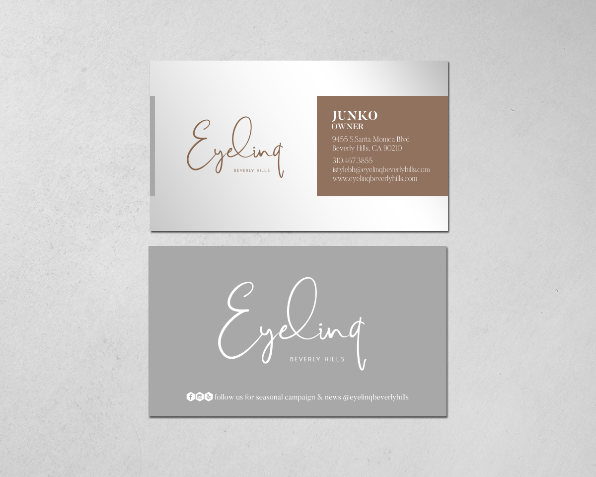 Elegant Conservative Beauty Salon Business Card Design For A
