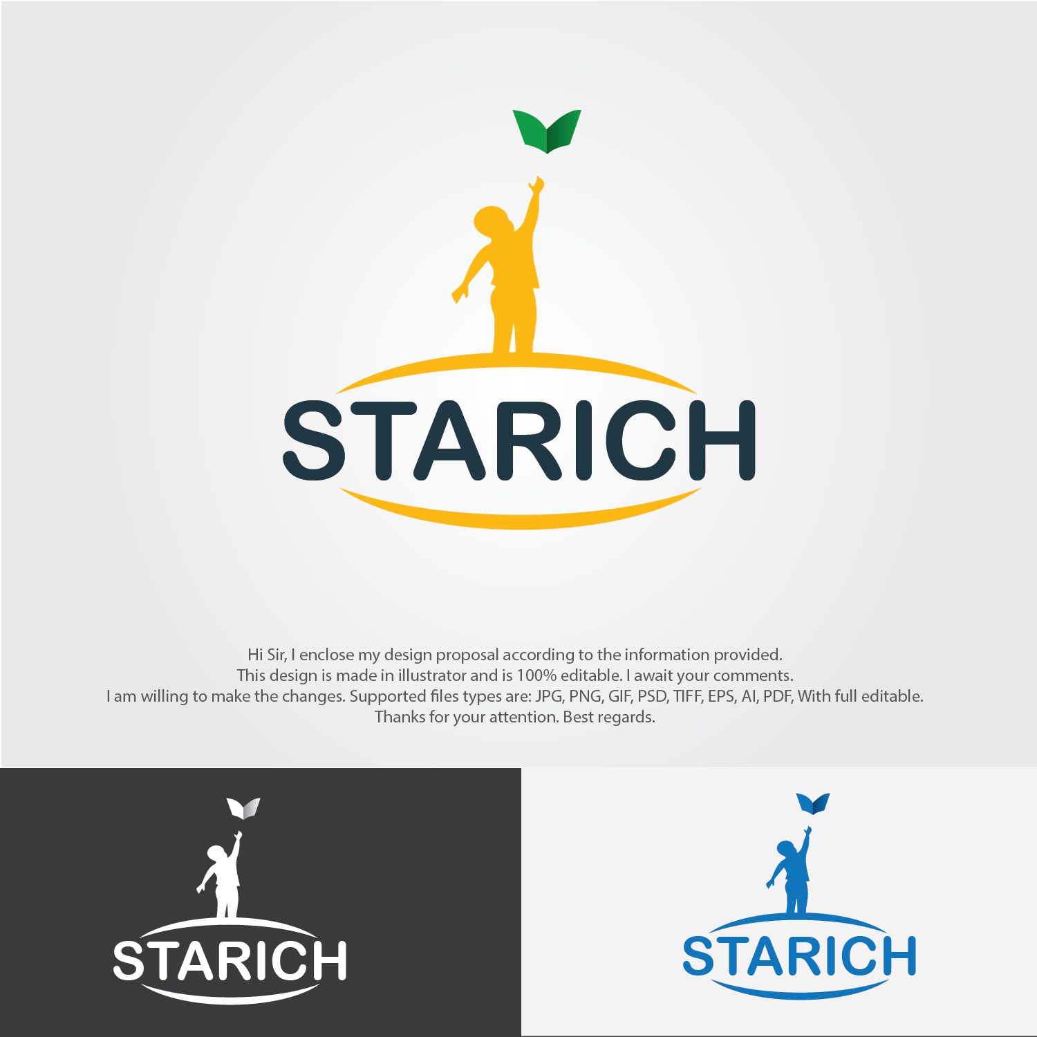 Serious Professional Logo Design For Starich Education By