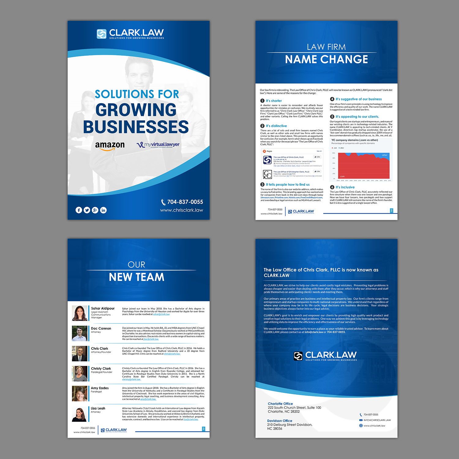 serious upmarket legal brochure design for a company by