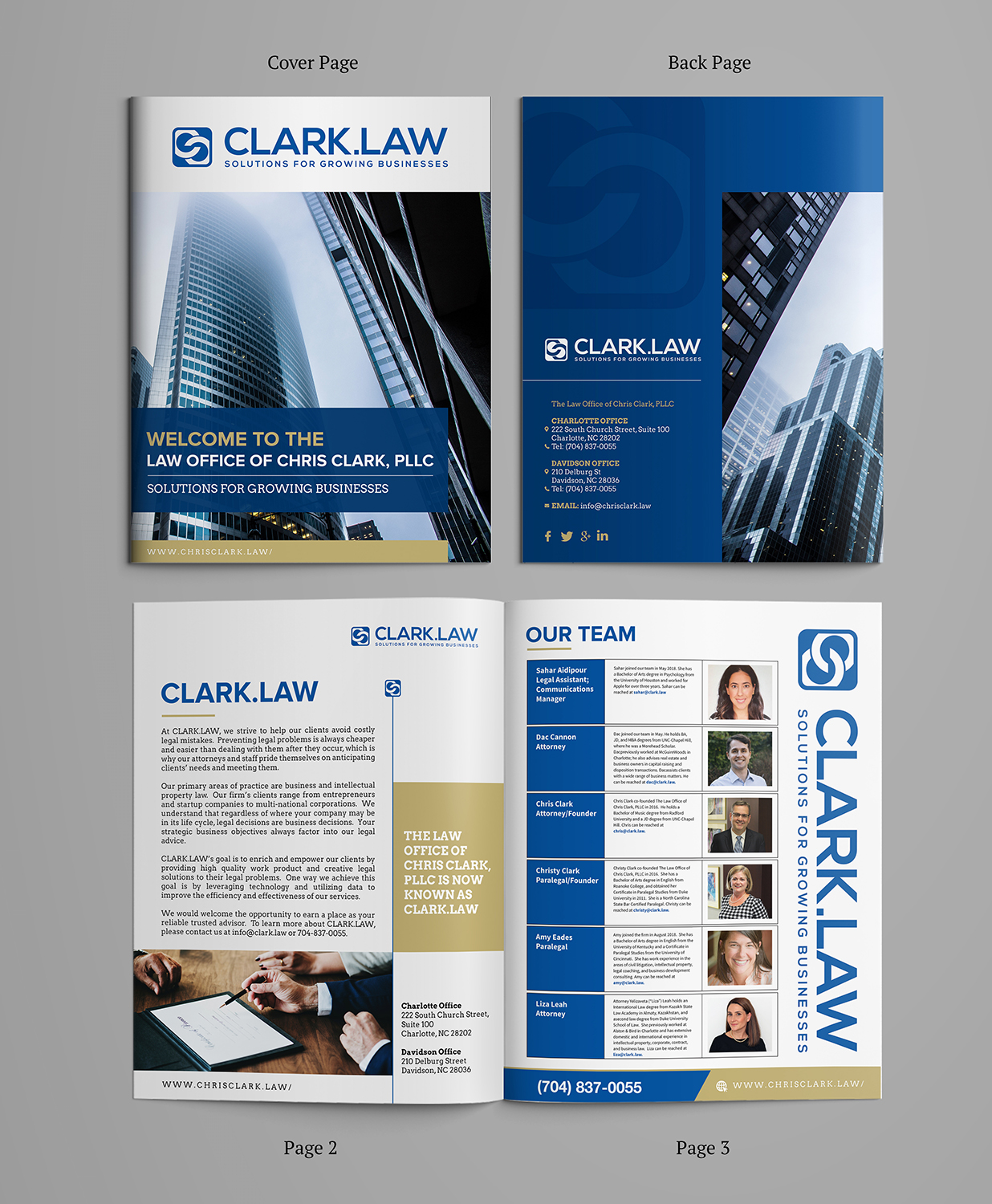 serious upmarket legal brochure design for a company by sd