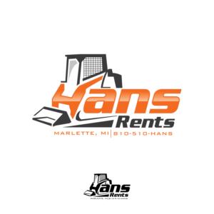 Hans Rents | Logo Design by Kreative Fingers