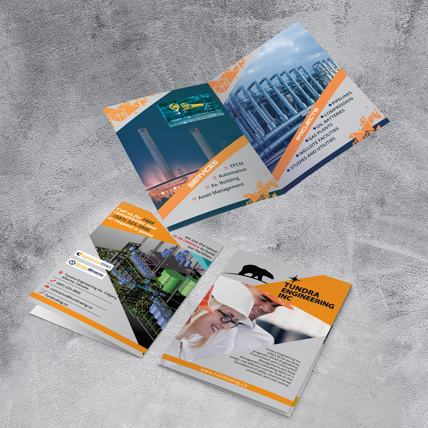 Professional, Serious, Oil And Gas Exploration Flyer Design for a