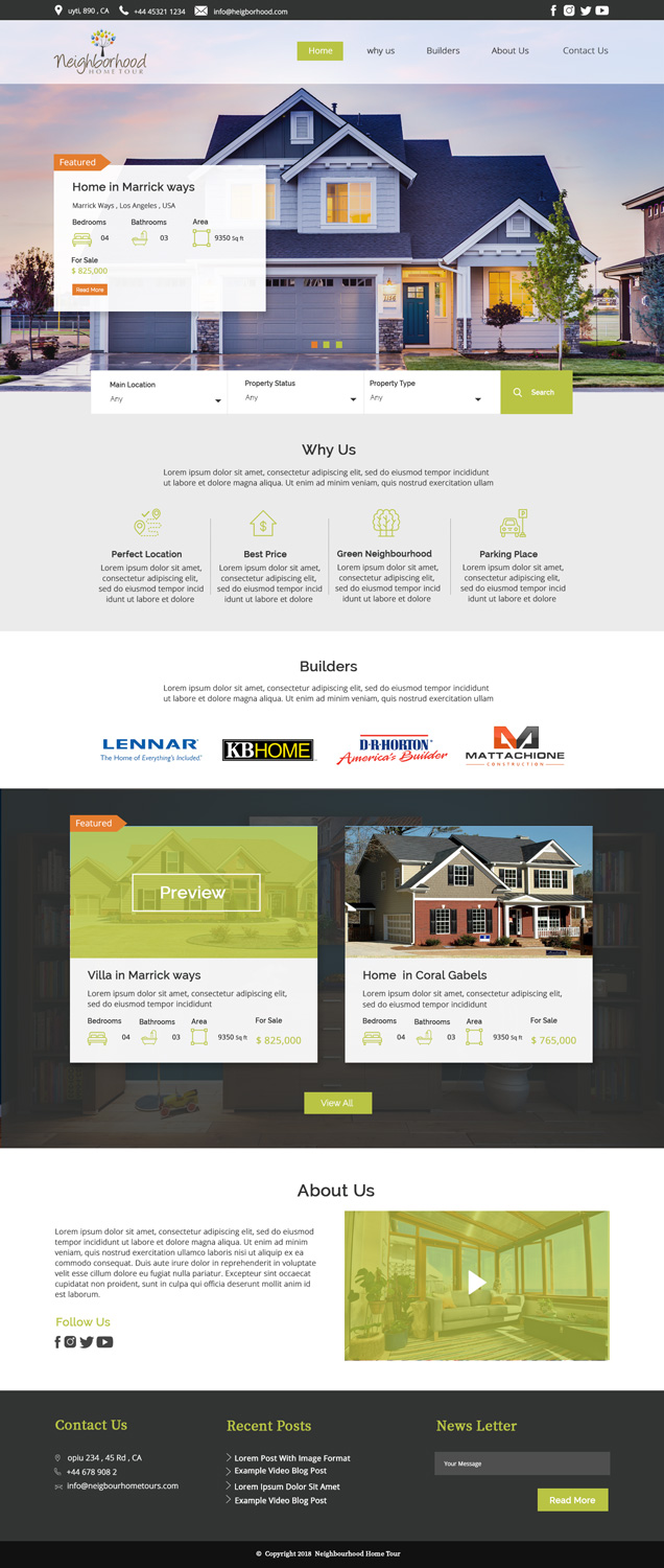 Playful, Feminine, Real Estate Web Design for a Company by
