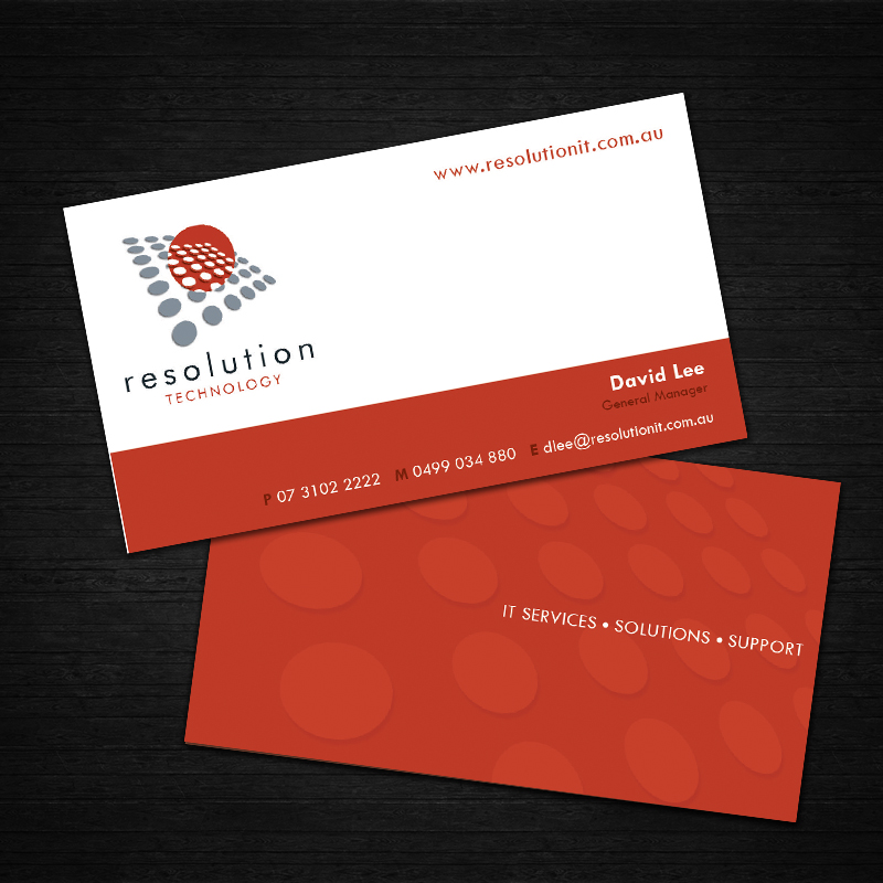 Modern professional software business card design for resolution business card design by dreamchaser studio for resolution technology design 2913132 colourmoves