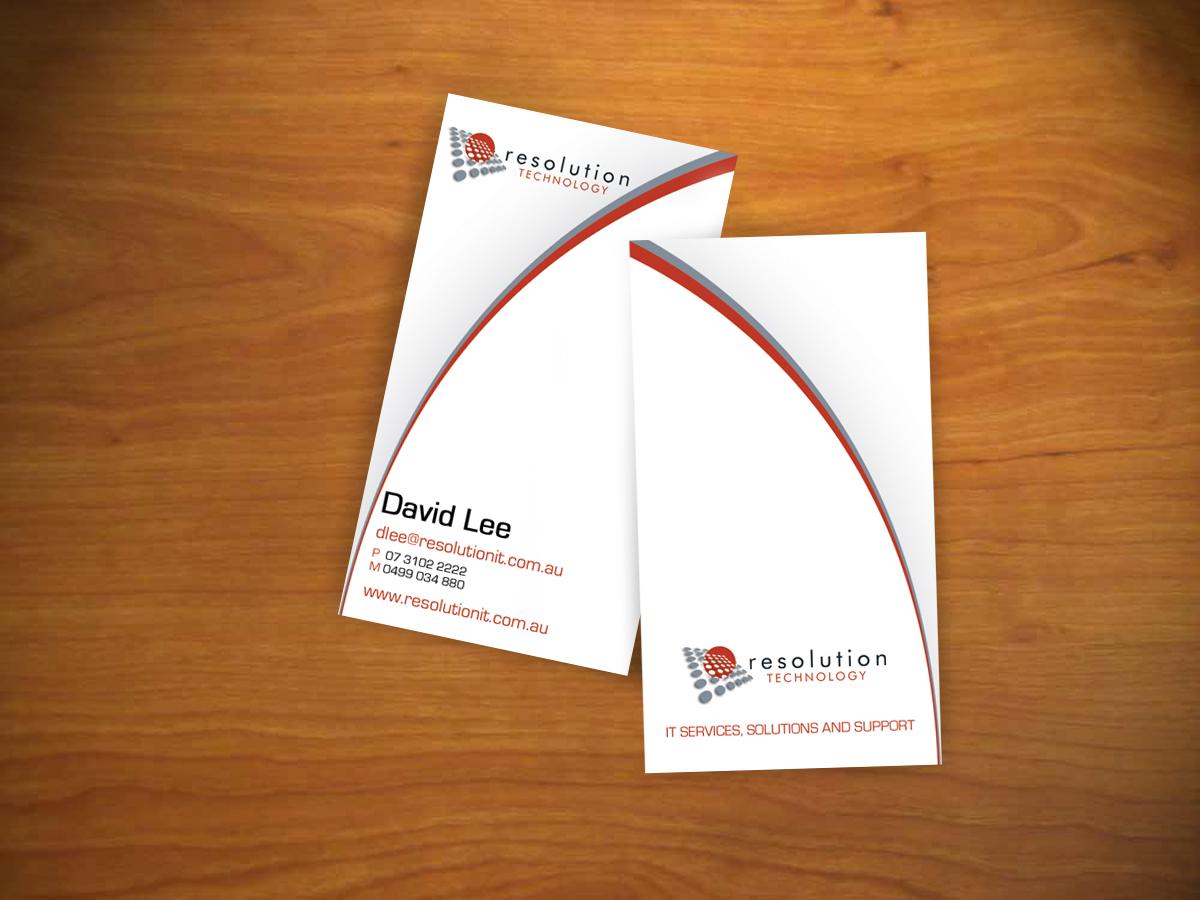 Modern, Professional, Software Business Card Design for Resolution ...