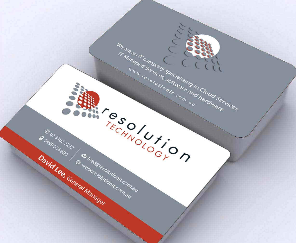 Modern professional software business card design for resolution business card design by sbss for resolution technology design 2936609 reheart Gallery