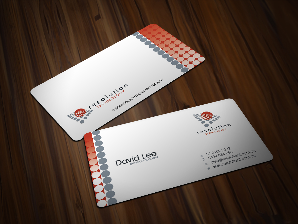 Modern professional software business card design for resolution business card design by scorpius design for resolution technology design 2928058 reheart Gallery