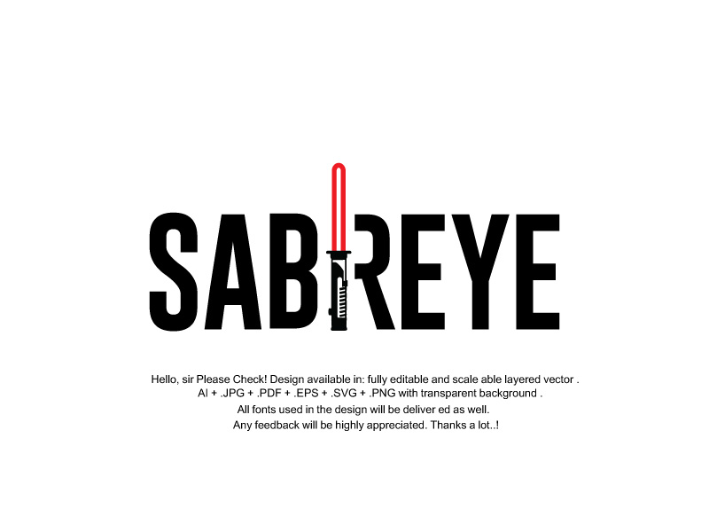 Elegant, Playful Logo Design for Sabreye by juiedesign
