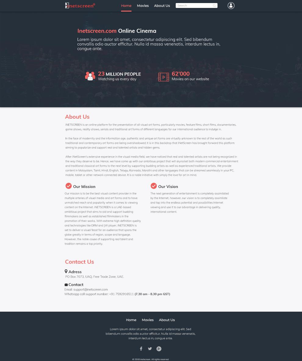 Elegant, Playful, Movie Web Design for a Company by artkulak