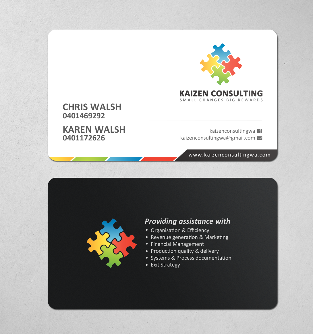 Modern Personable Business Consultant Business Card Design