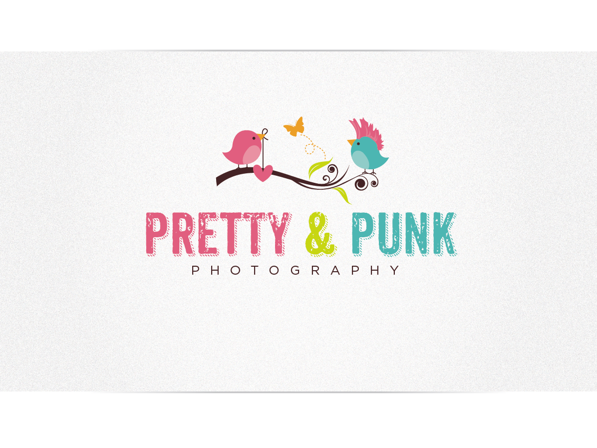 Pretty and Punk Photography Logo Design by Cherry Pop Design