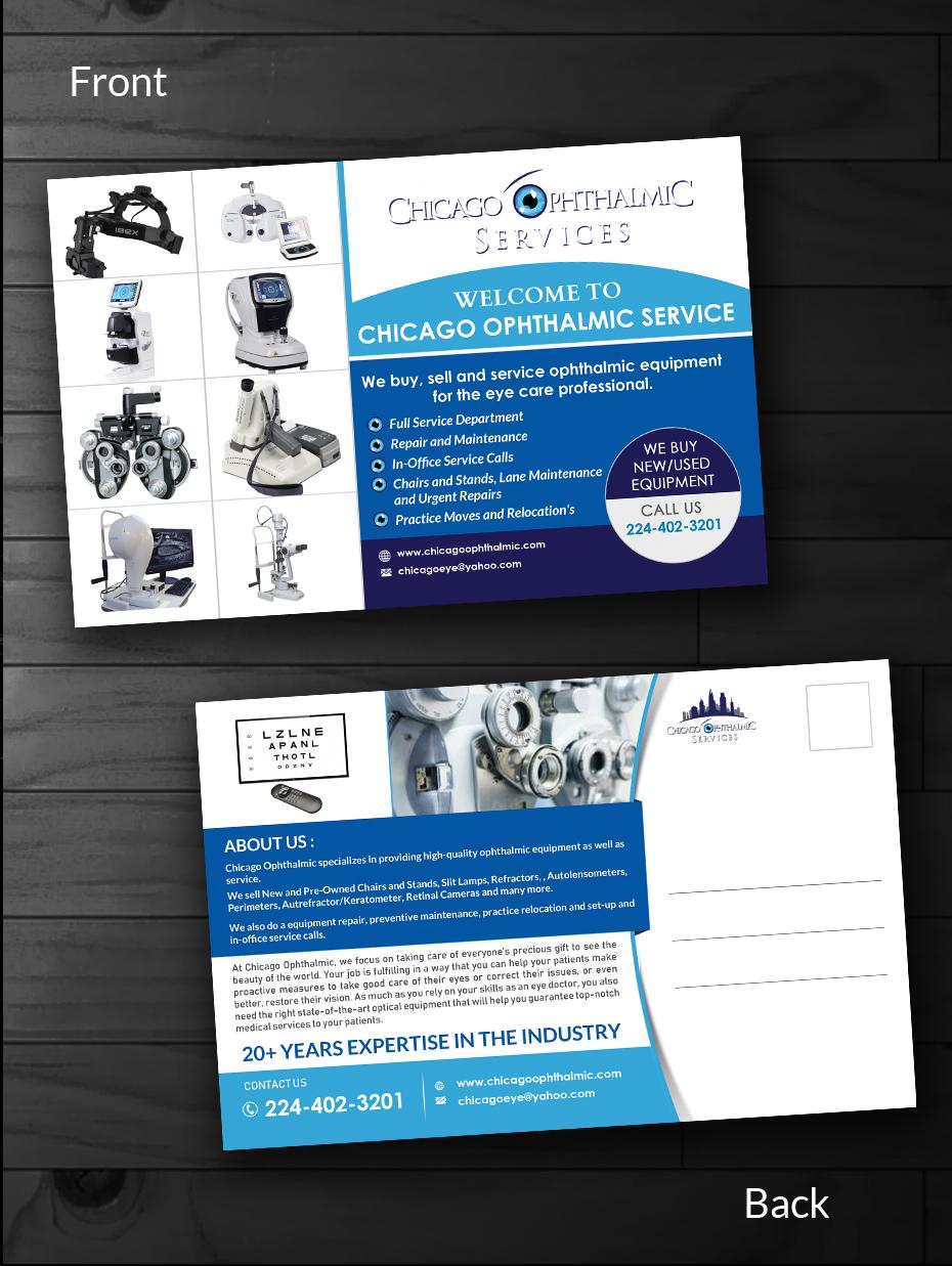 Serious, Modern, Medical Equipment Postcard Design for