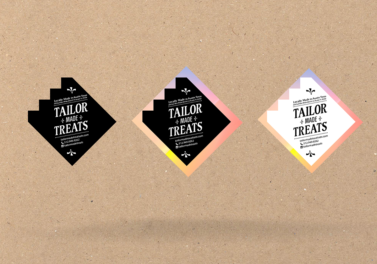 Bold playful chocolate company sticker design for tailor made treats in united states design 2953489